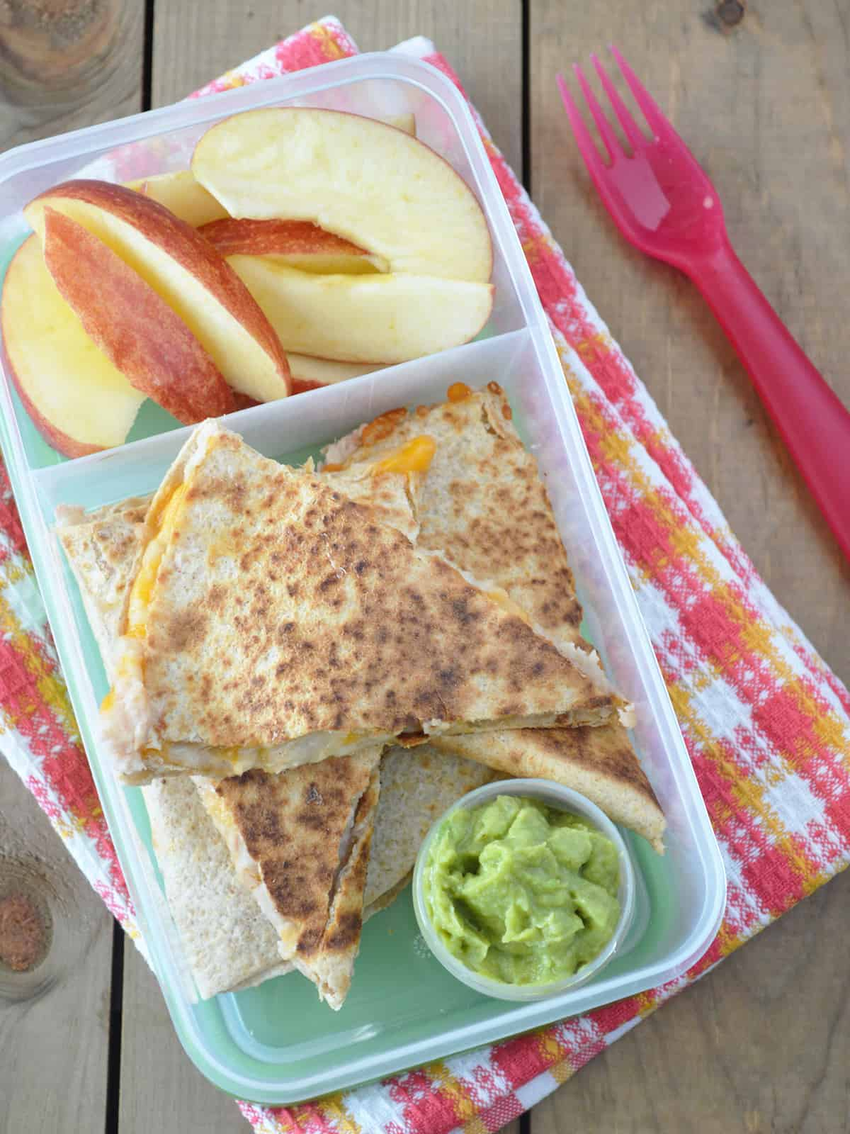 Easy Cheese and Bean Quesadilla Lunch Idea