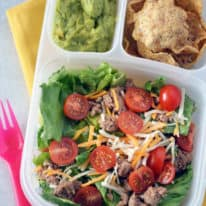Turkey Taco Salad Bento Box