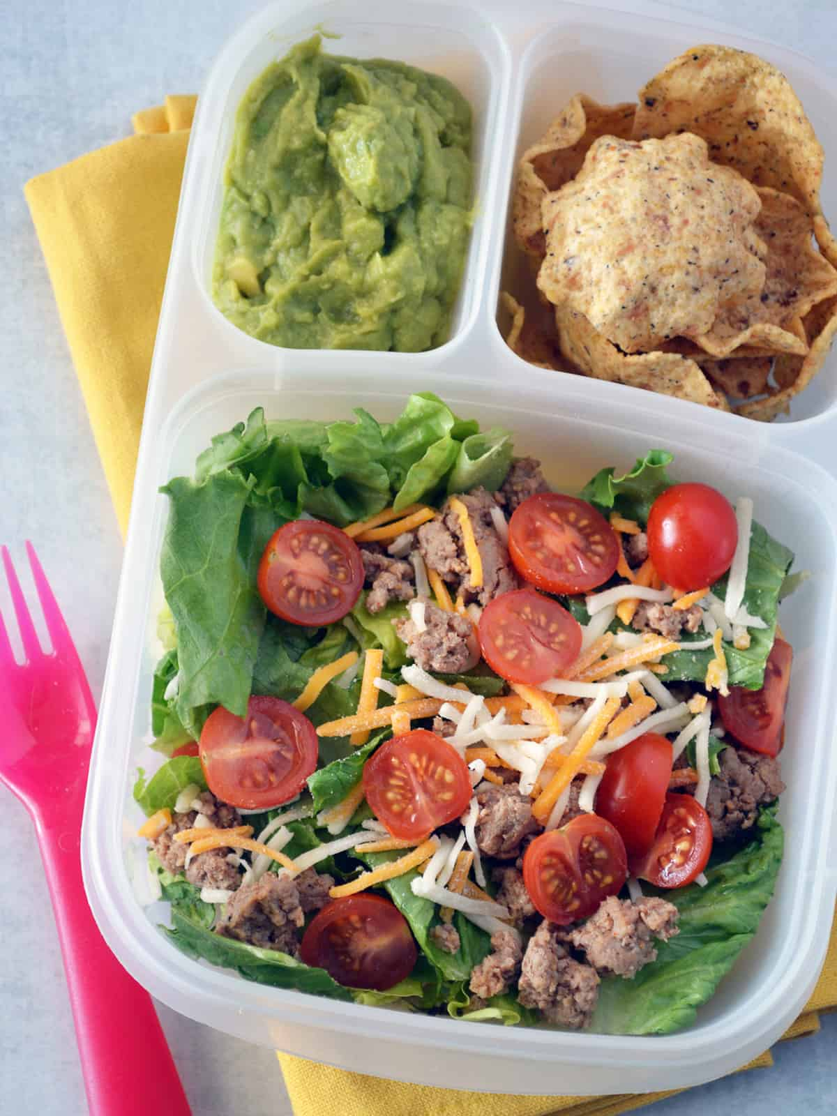 how to make a turkey taco salad bento box