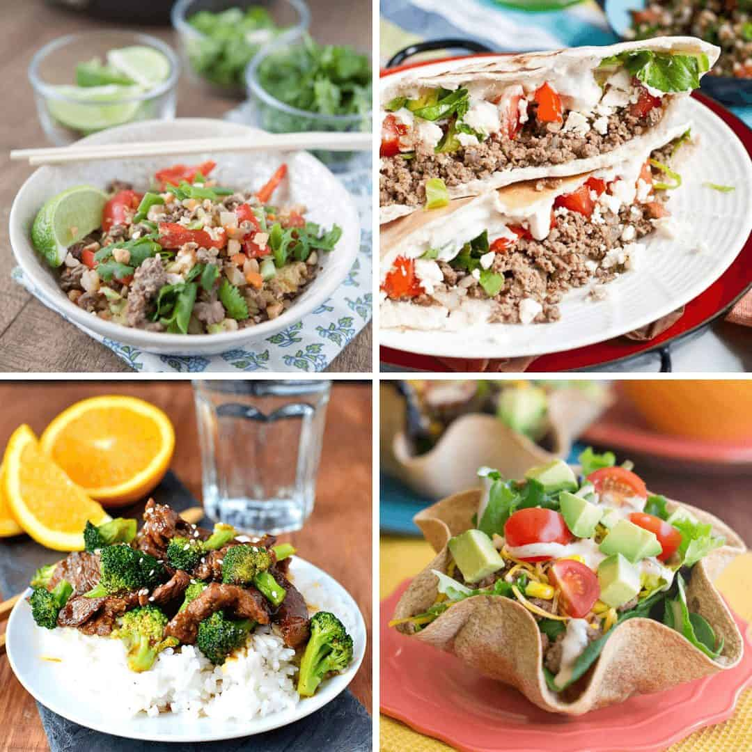 Collage of beef recipes