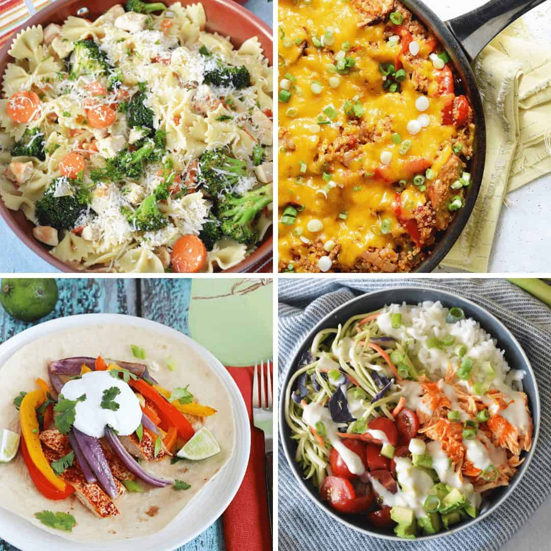 Collage of chicken recipes