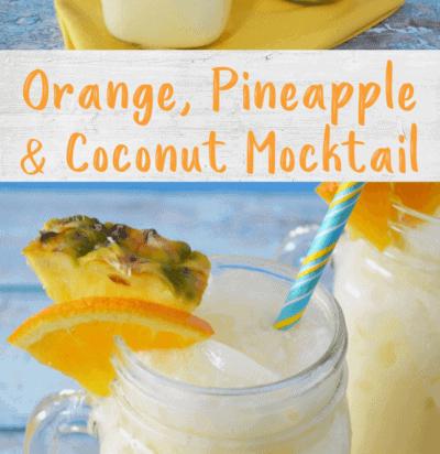 Orange, Pineapple & Coconut Mocktail