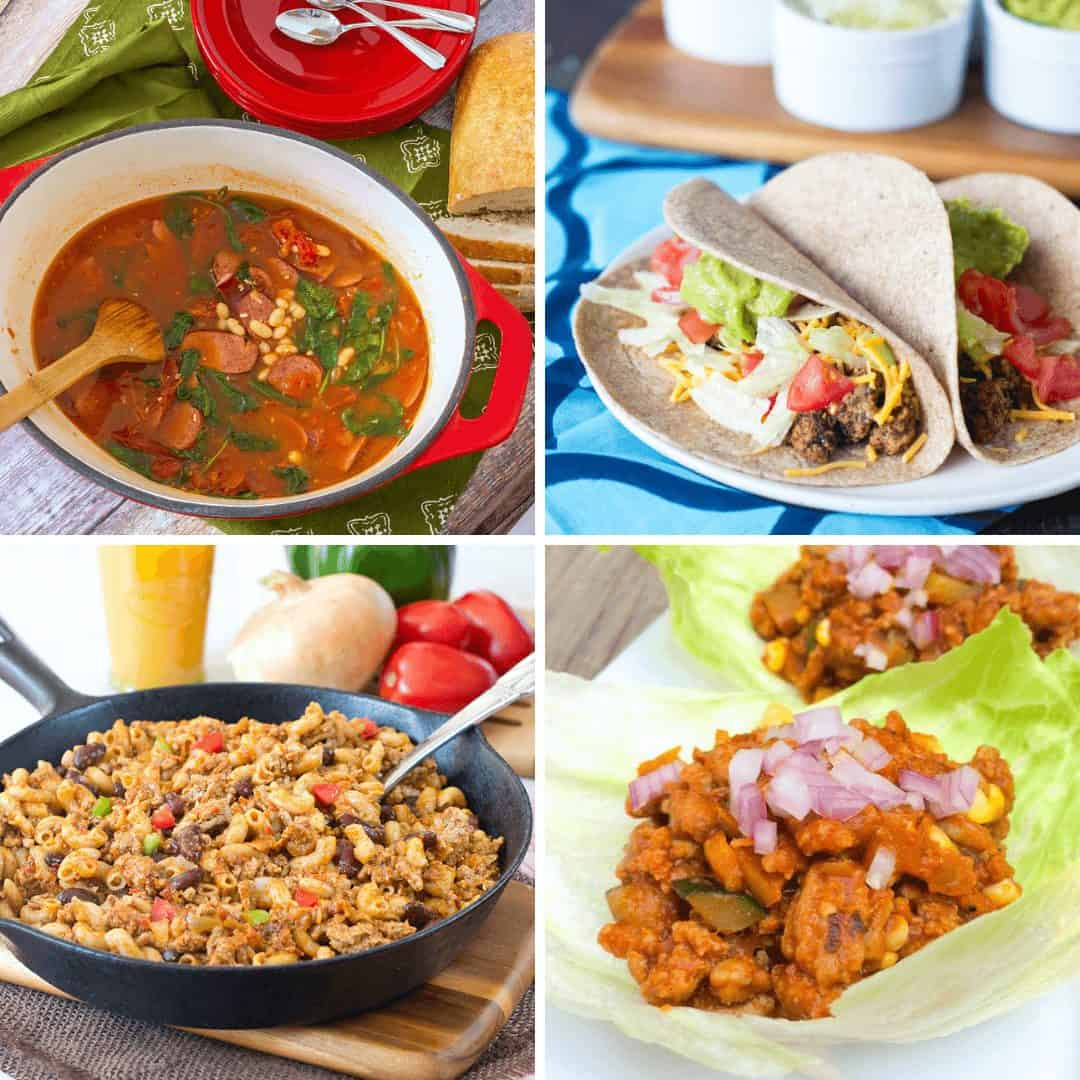 Collage of turkey recipes