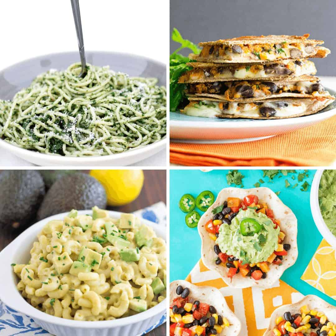 Collage of vegetarian recipes