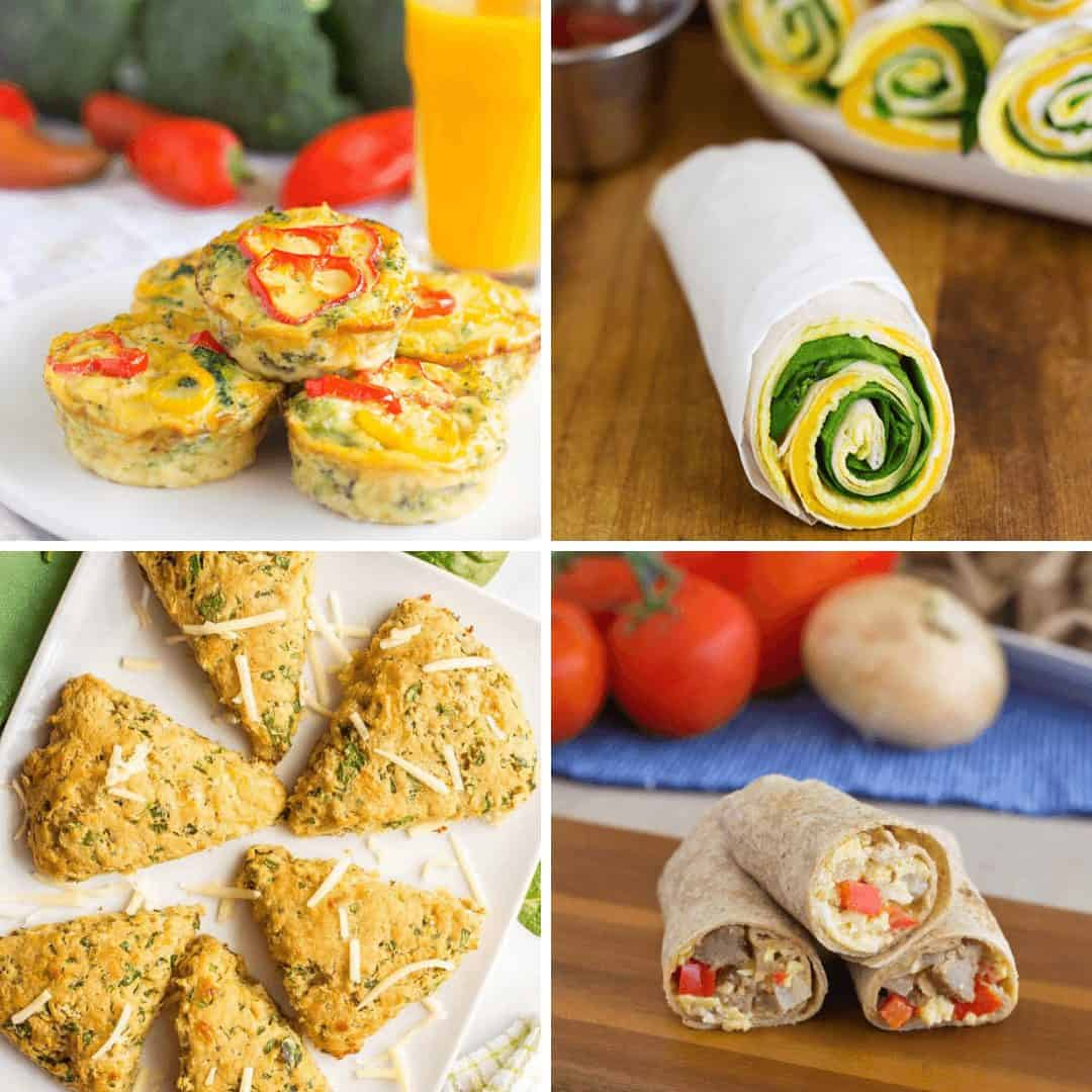 Collage of Breakfast Wraps & Sandwiches recipes