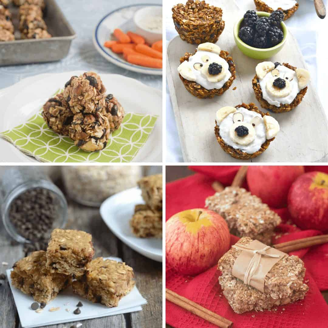 Collage of Breakfast Cookies & Granola Bars images