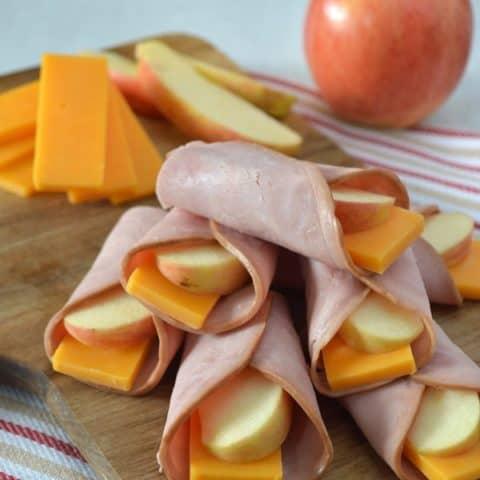 Ham, Apple & Cheese Wraps
