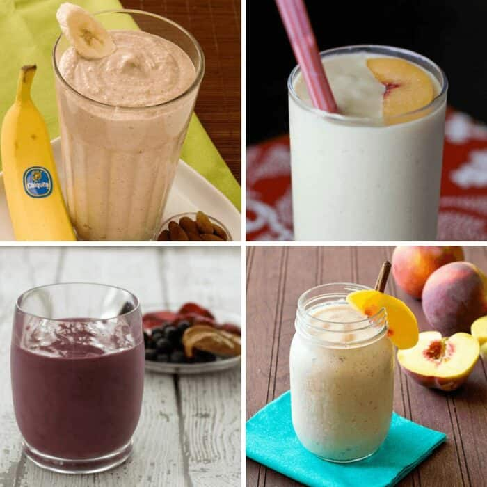 Collage of smoothie recipes