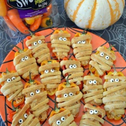 Taco-Stuffed Mini Sweet Pepper Mummies