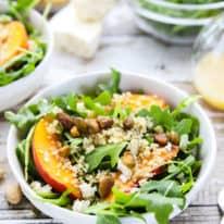 Arugula-Quinoa Salad with Fresh Peaches