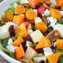 Fall Harvest Salad with Apple Cider Vinaigrette