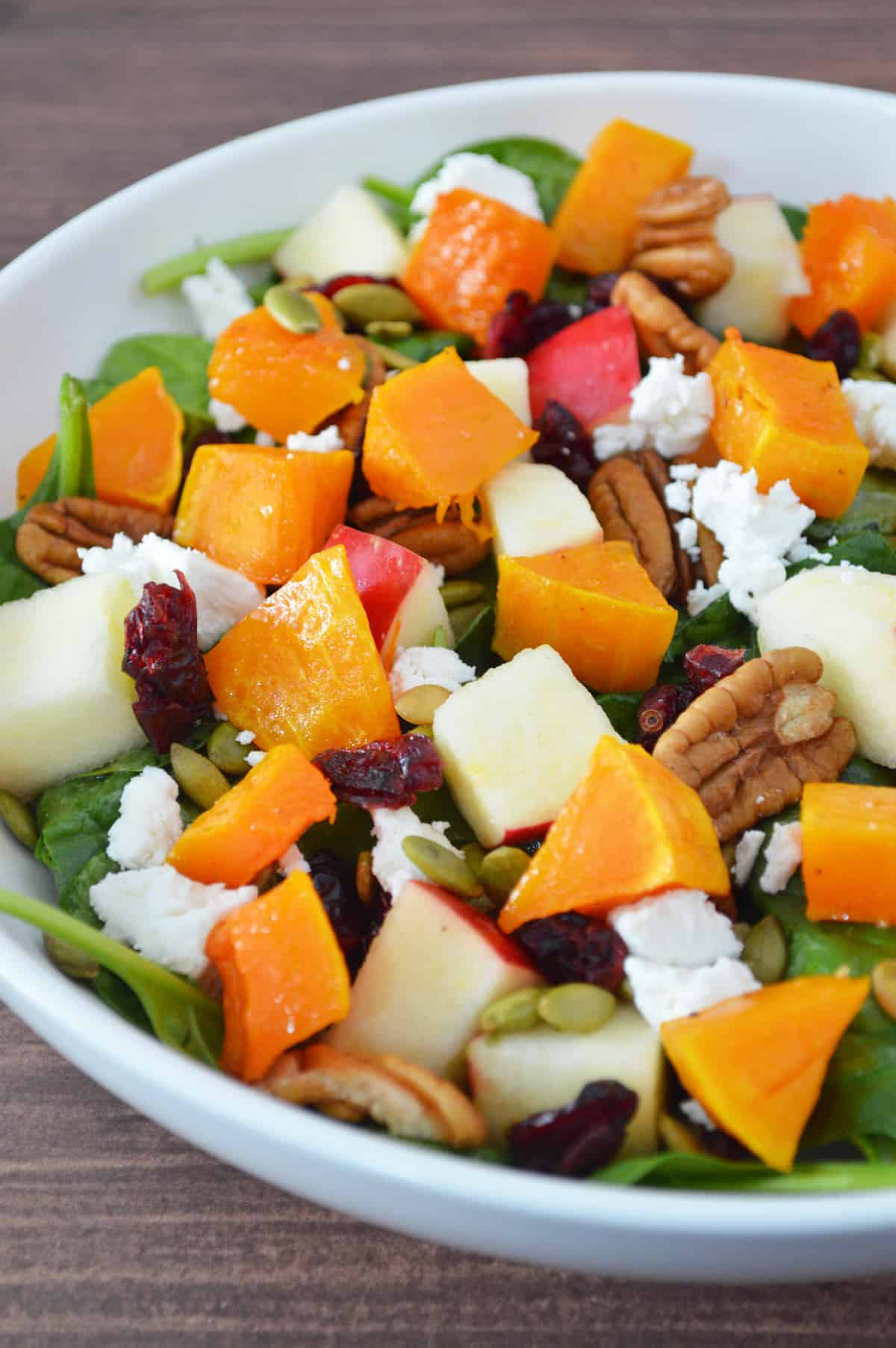how to make a fall harvest salad with an apple cider vinaigrette