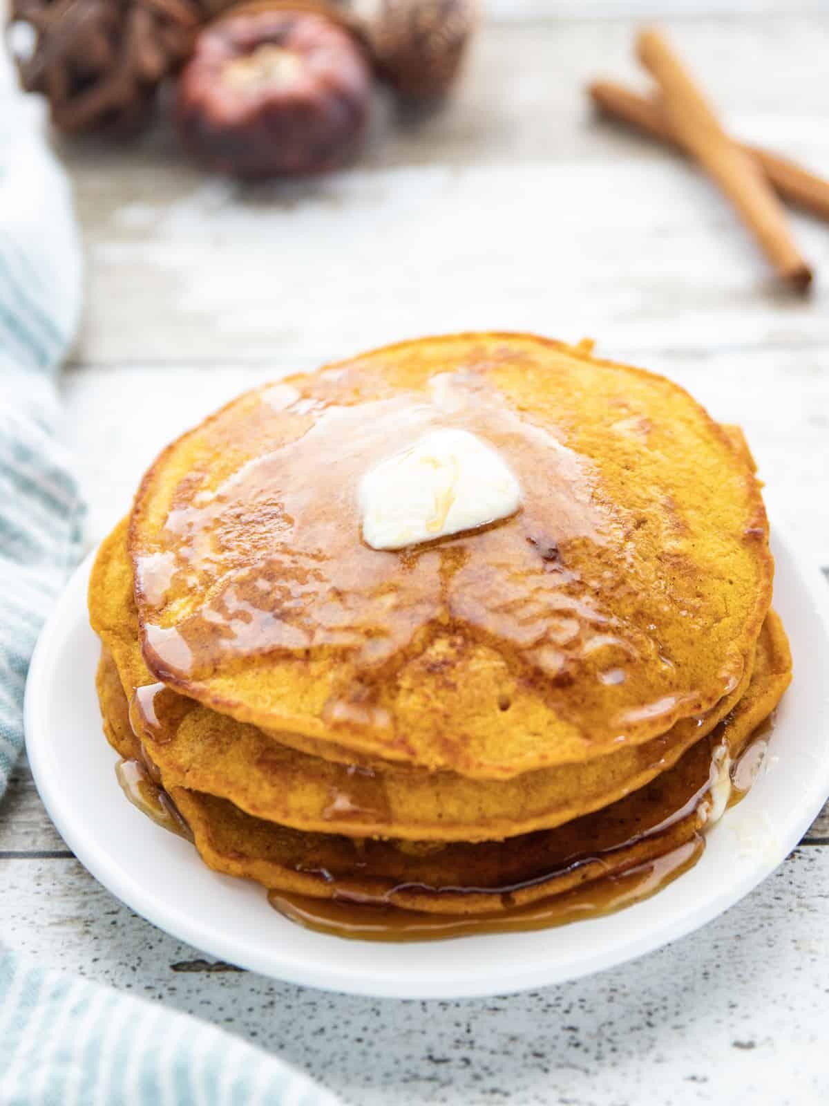Tasty Pumpkin Spice Pancakes