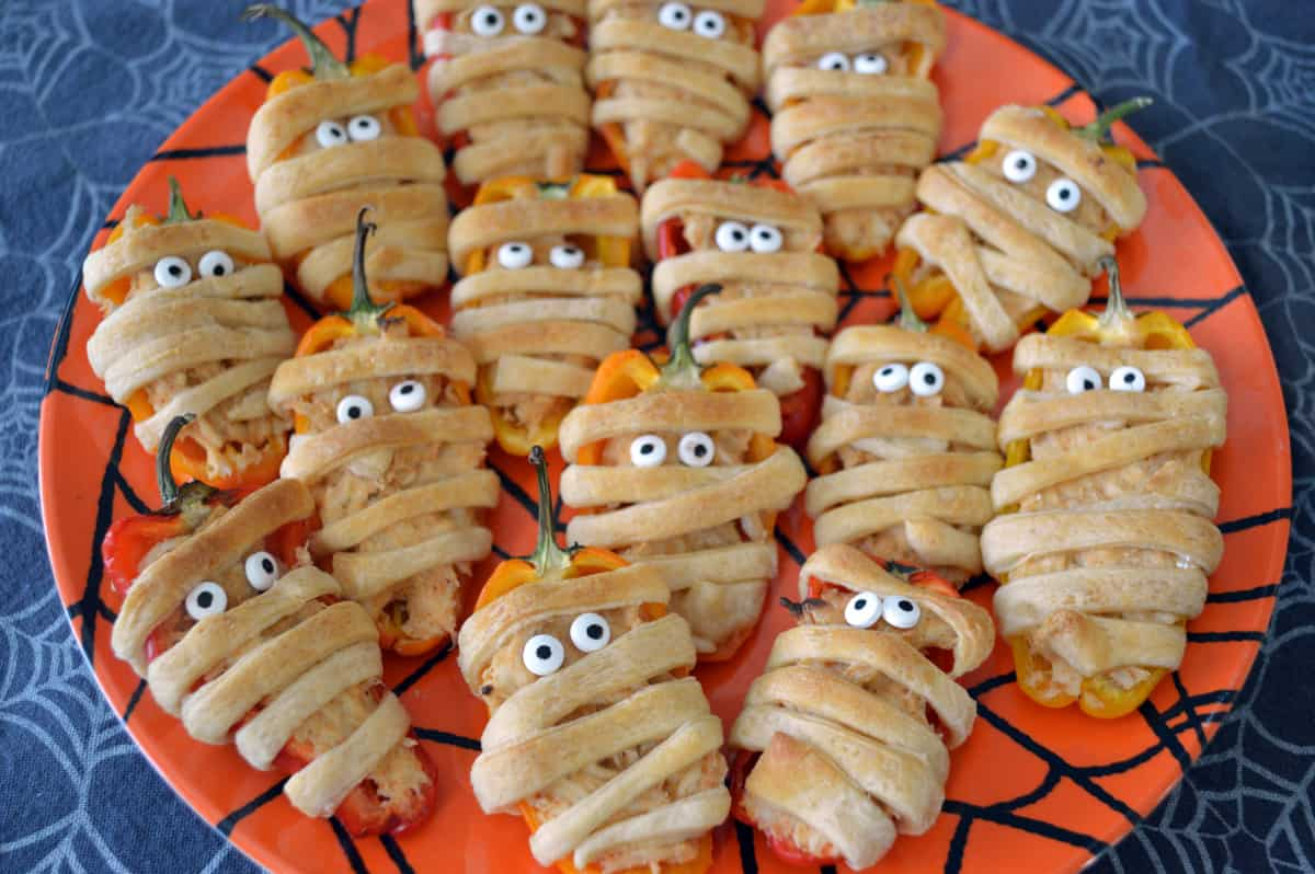 Taco Stuffed Mini Sweet Pepper Mummies