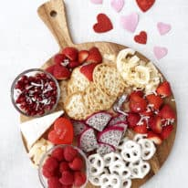 Valentine's Day Snack Board