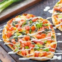 Easy Vegetarian Naan Pizzas