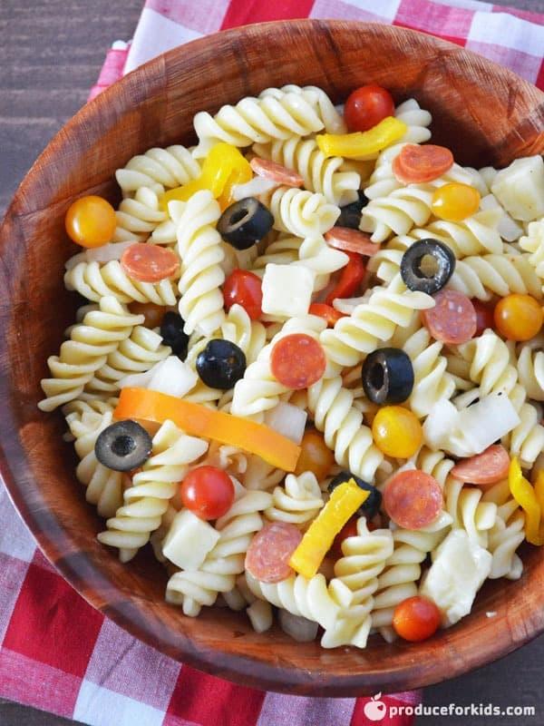 Tasty Pizza Pasta Salad