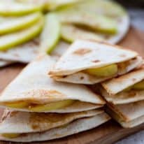 Spiced Apple Quesadillas