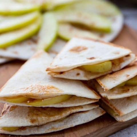 Spiced Apple Quesadillas