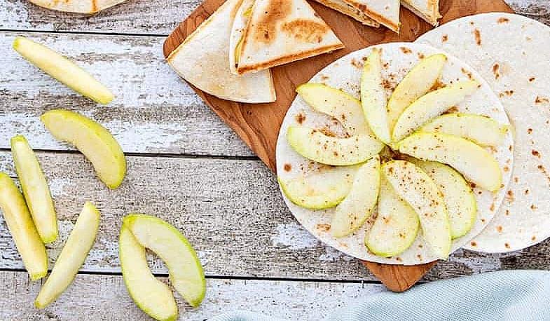 Best Spiced Apple Quesadillas