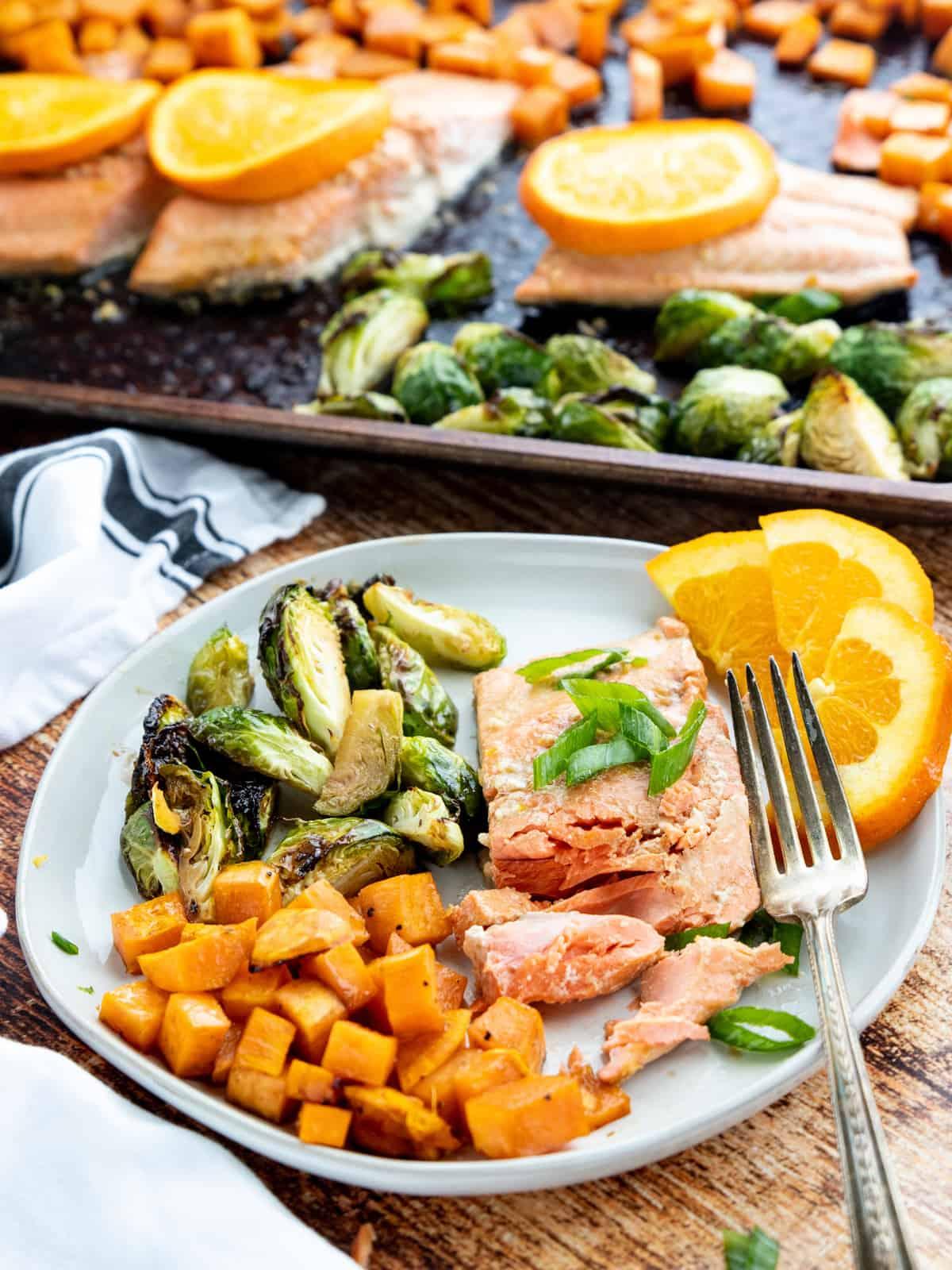 orange soy glazed salmon