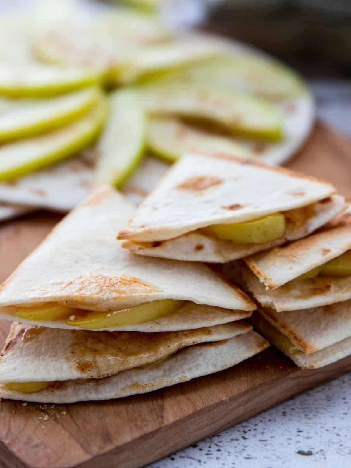 Easy Spiced Apple Quesadillas