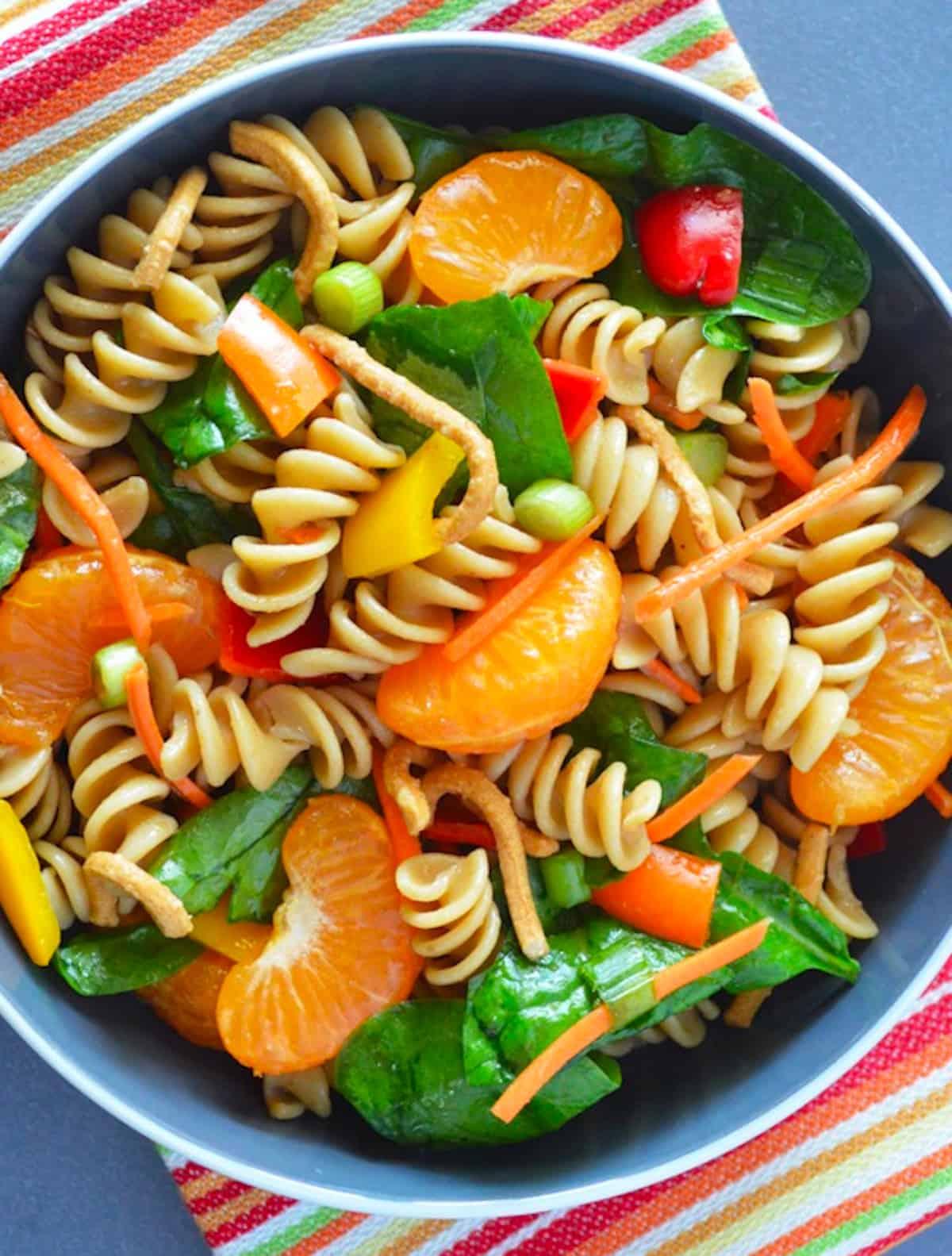 Easy Chinese Mandarin Pasta Salad