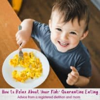 How to Relax About Your Kids' Quarantine Eating