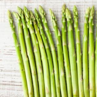 asparagus on wood