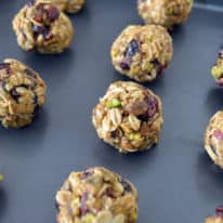 No-Bake Cranberry Pistachio Energy Bites