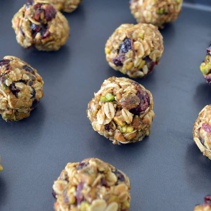 No-Bake Cranberry Pistachio Energy Bites
