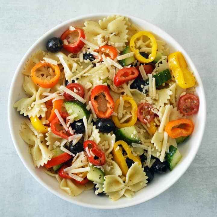 Rainbow Italian Pasta Salad