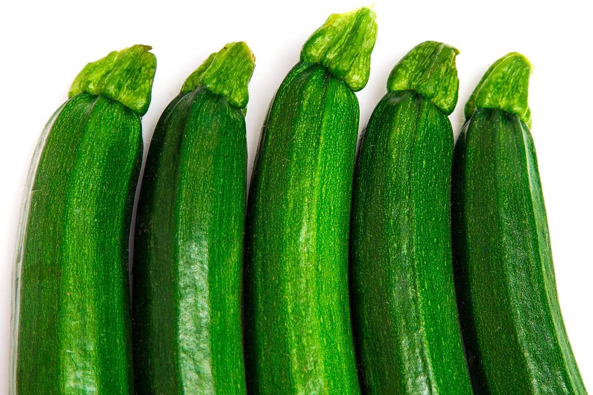 5 zucchini in a row