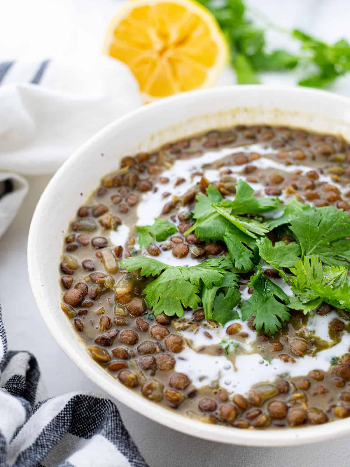 Easy Coconut Lentil Curry Soup