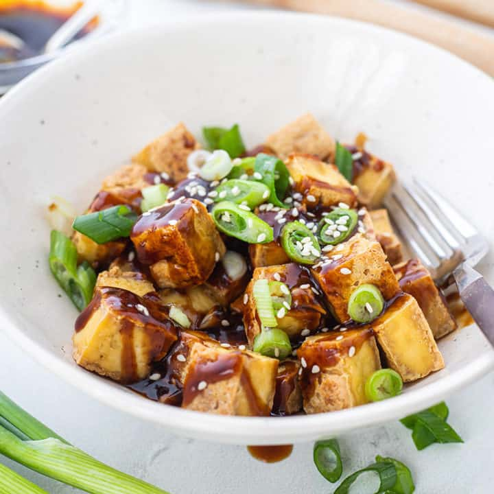 Crispy Tofu with Ginger Soy Sauce