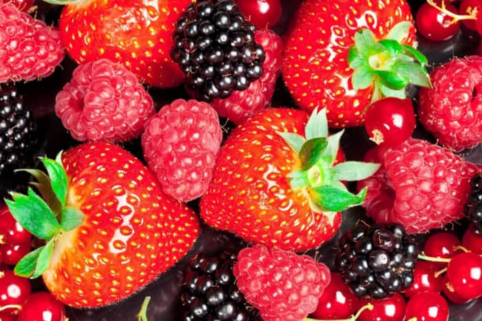Close up of mixed berries