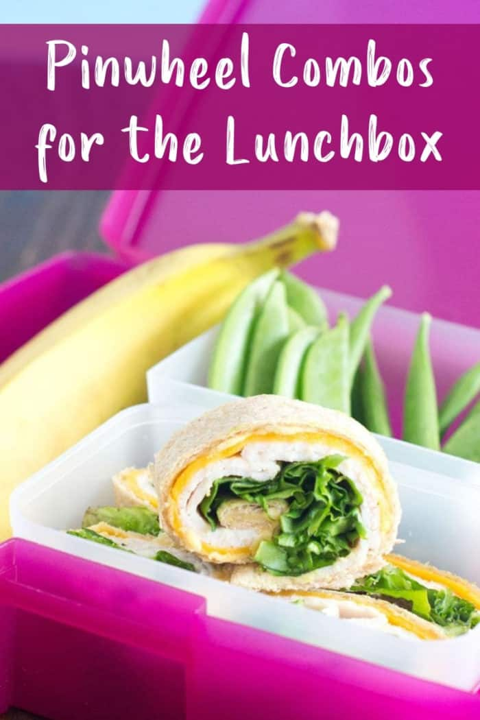 Pinwheels in lunchbox with text overlay