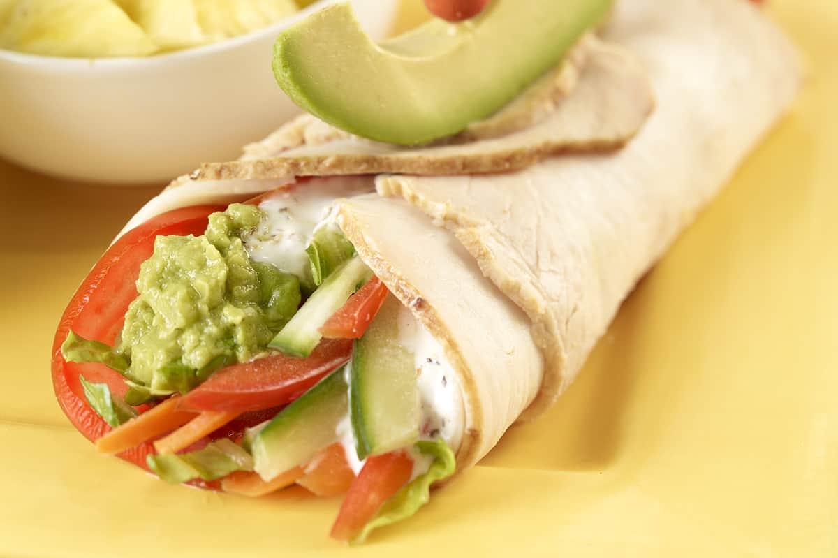 Tasty Avocado Turkey Wrap
