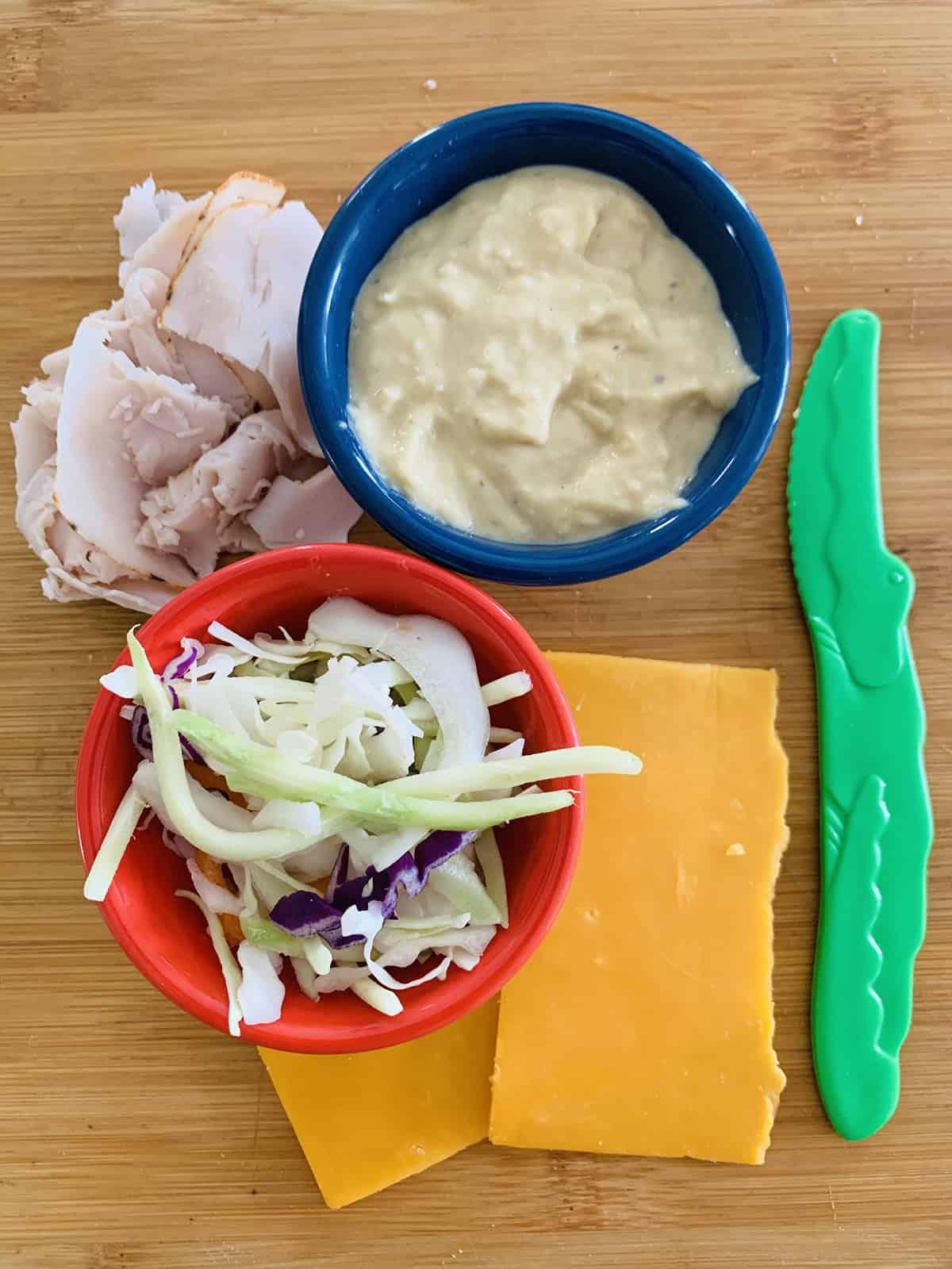 turkey pinwheels snack box ingredients
