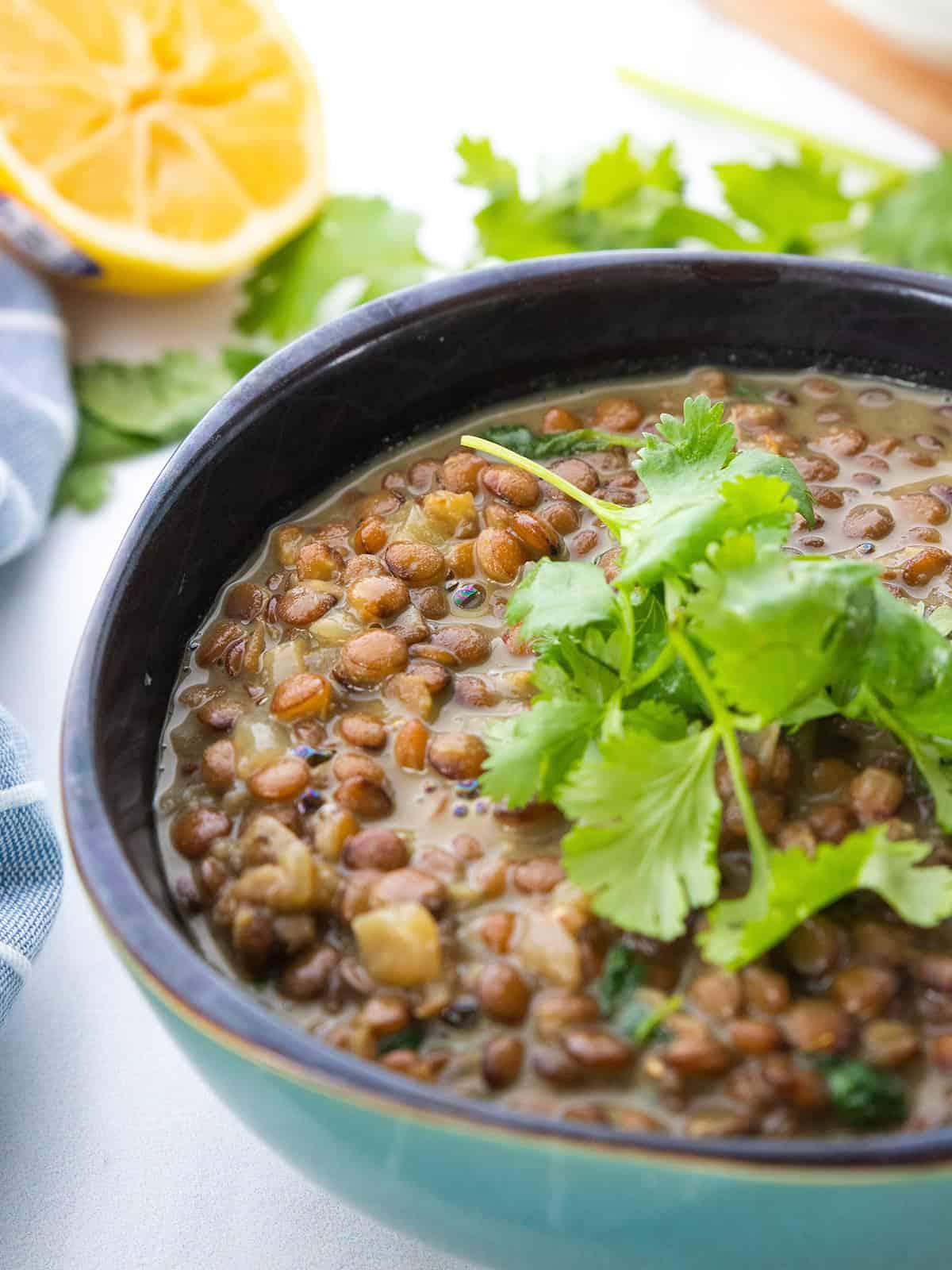 Vegan Coconut Lentil Curry Soup