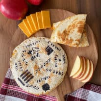 Marauder's Map Apple Cheddar Quesadillas