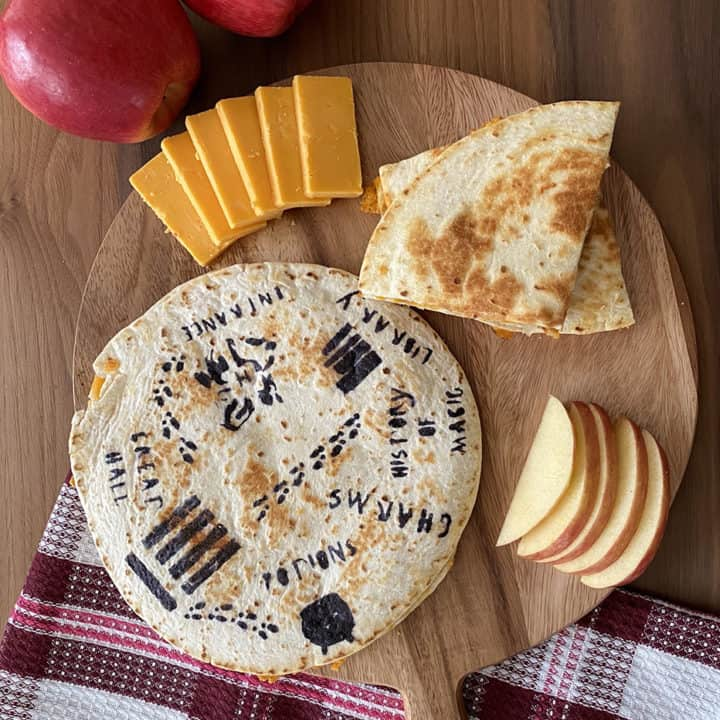 Apple & Cheddar Quesadillas