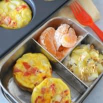 Southwest Quiche Muffins Bento Box