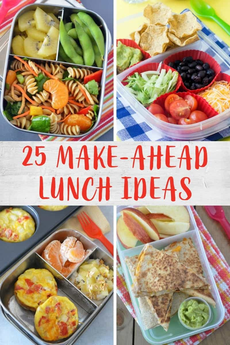 Collage of lunchbox recipes