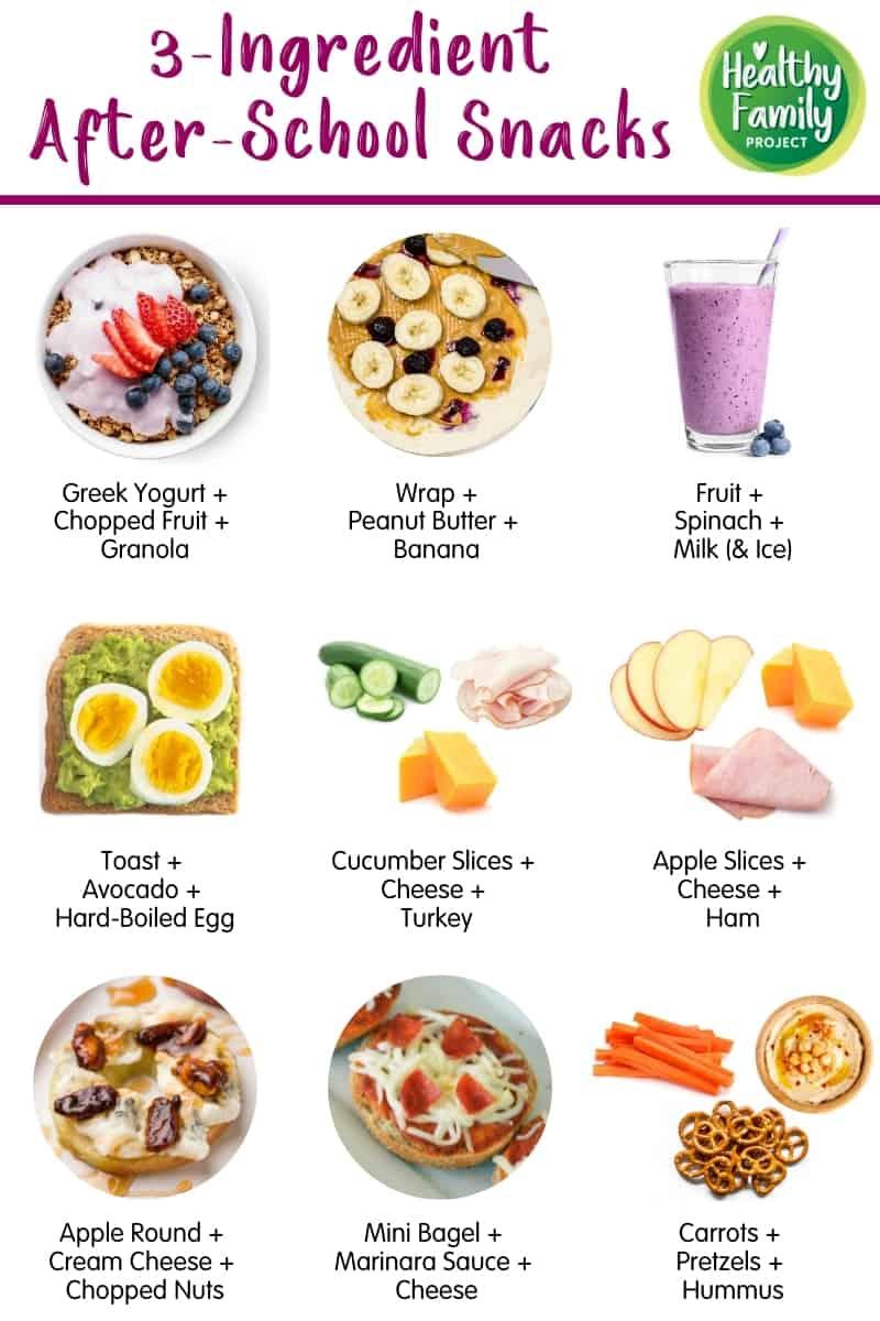 3-Ingredient After-School Snacks infographic