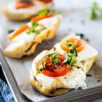 Baked Caprese French Bread Pizza