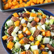 Roasted Butternut Squash Sweet Kale Salad