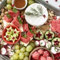 Holiday Watermelon Snack Board