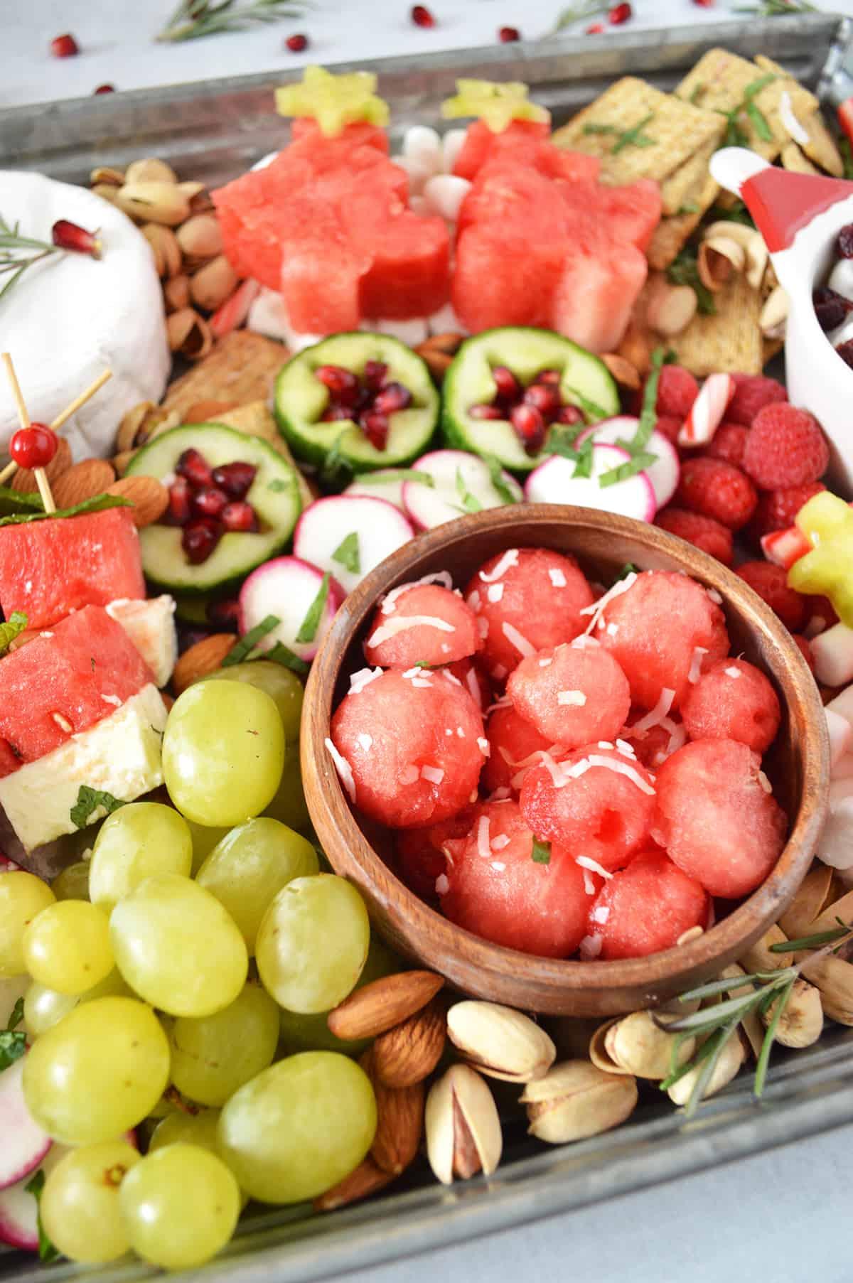 Holiday Watermelon Grazing Board