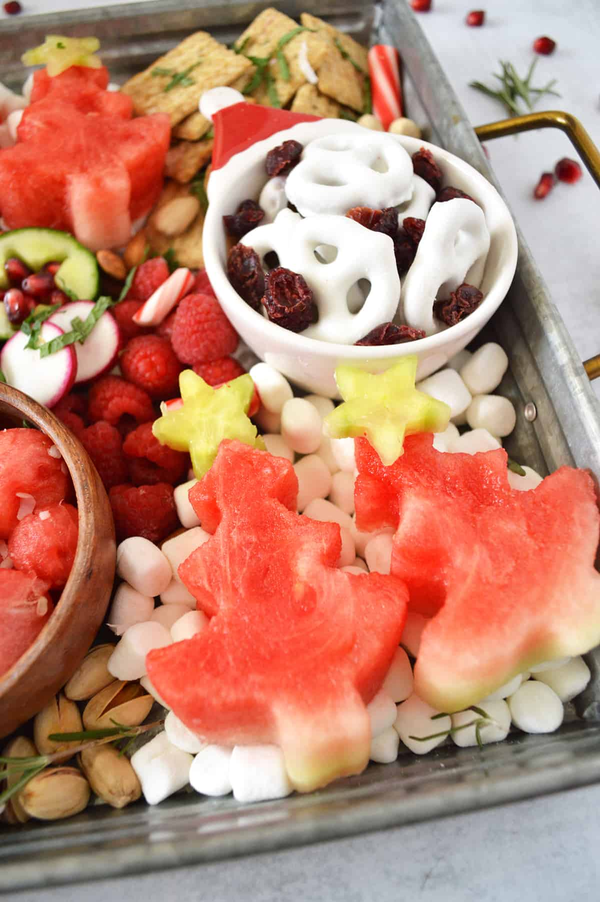 How to make a Holiday Watermelon Snack Board